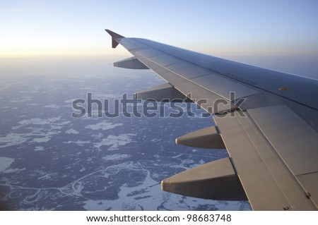 Airoplane in Russia - stock photo