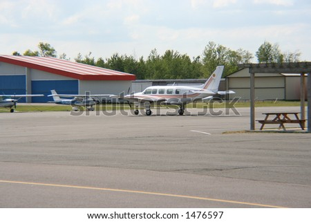 Airplane at rest - stock photo