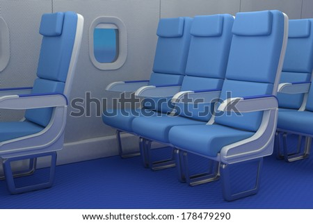 airplane cabin - stock photo