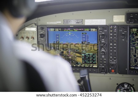 airplane cockpit view