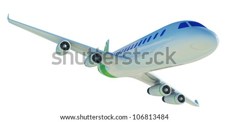 airplane 3d - stock photo