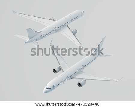 Airplane, 3D illustration