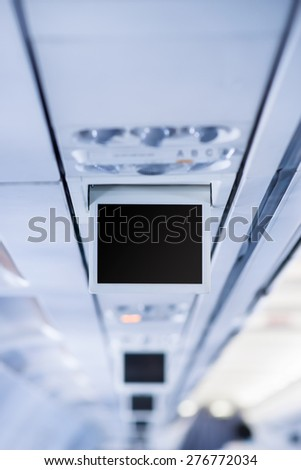 Airplane Display Screen - stock photo
