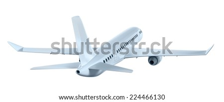 Airplane flying away. My own design - stock photo