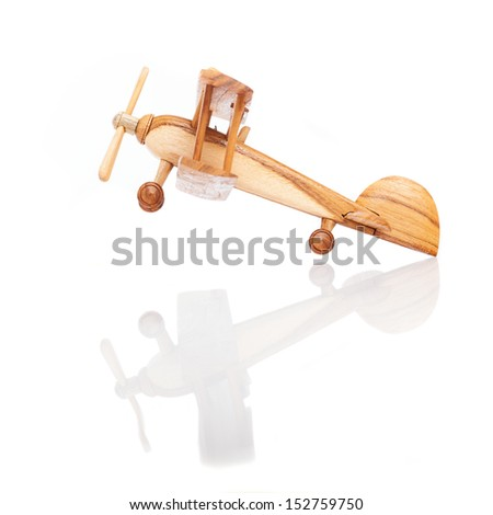 airplane flying isolated on a white background - stock photo
