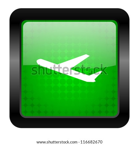 airplane icon - stock photo