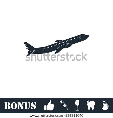 Airplane Icon Flat Simple Illustration Symbol Stock Illustration