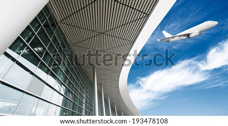 airplane in airport