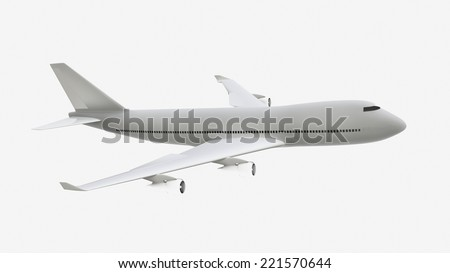 Airplane isolate - stock photo