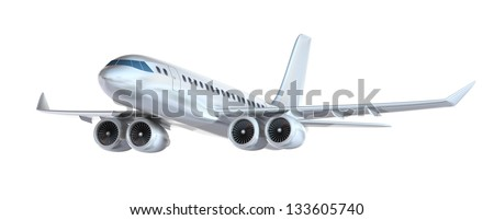 Airplane isolated. My own design - stock photo