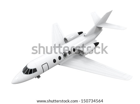 Airplane Jet Isolated