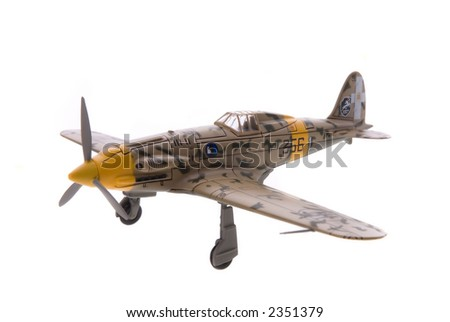 Airplane Model Isolated - stock photo