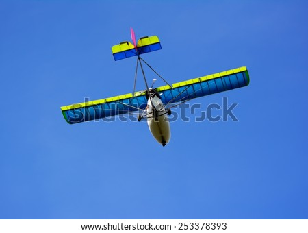airplane on sky background