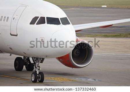 Airplane on the ground - stock photo
