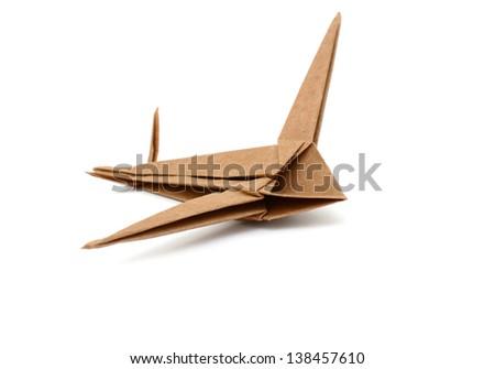Airplane paper on landing - stock photo