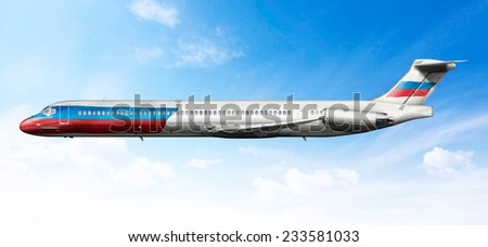 airplane profile fictional livery russian flag stock photo edit now
