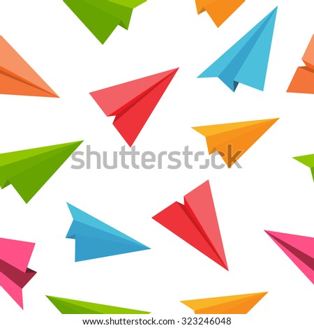 Airplane Seamless Pattern Background Illustration.  - stock photo