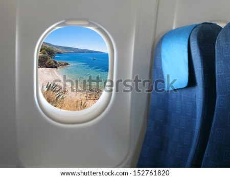 Window Seat Airplane View