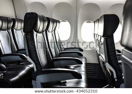 Airplane seat interior