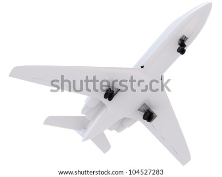airplane silhouette isolated on white background