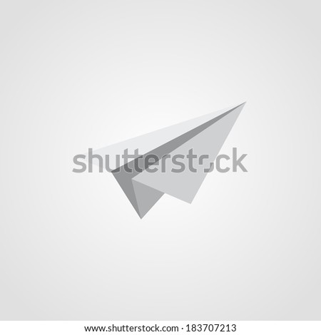 Airplane Symbol Isolated on White Background Raster