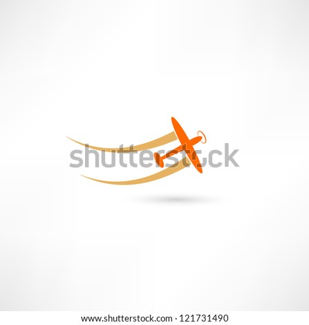airplane symbols - stock photo