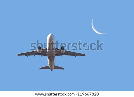 airplane take off - stock photo
