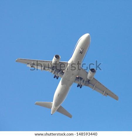airplane taking off  - stock photo