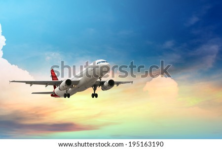 airplane taking off - stock photo