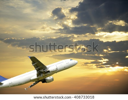 Airplane taking off