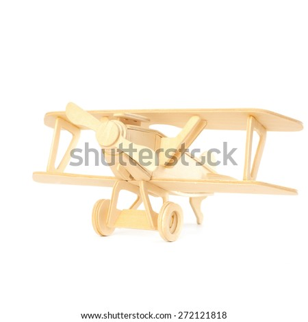 airplane toy isolated on white