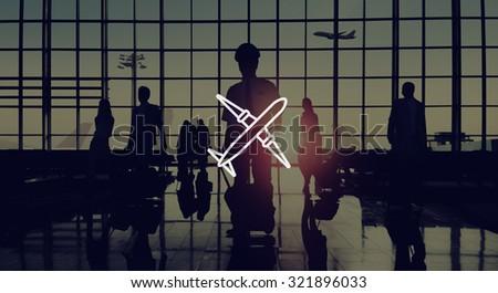 airplane transportation plane trip navigation concept stock photo