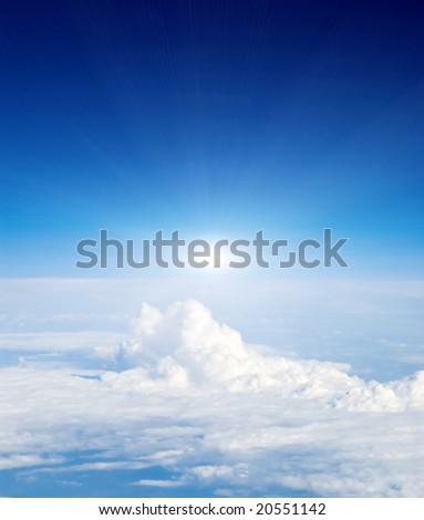 airplane view - stock photo