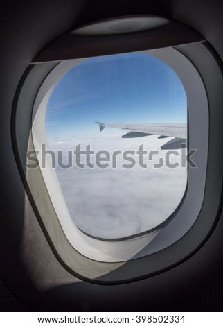 airplane window sight during flight