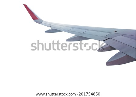 Airplane Wing isolate - stock photo