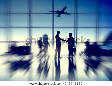 Airport Airplane Air Transportation Business Travel Concept - stock photo