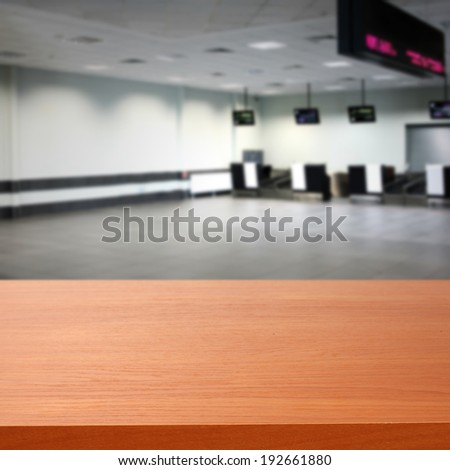 airport and red desk  - stock photo