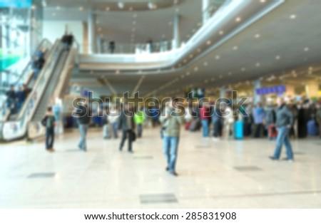 Airport, Arrival Departure Board, Frankfurt. - stock photo