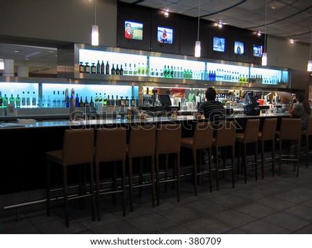 Airport bar - stock photo