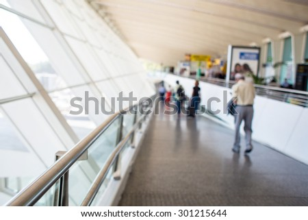 Airport blurred background blurred background people - stock photo