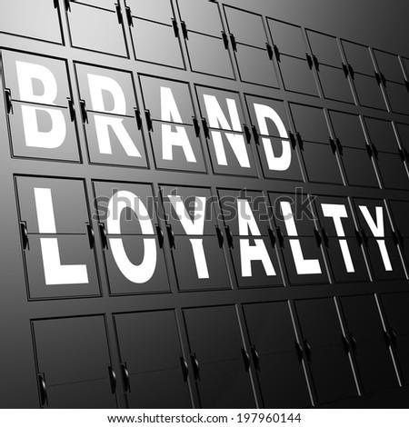 Airport display brand Loyalty - stock photo