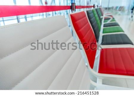airport empty seats - stock photo