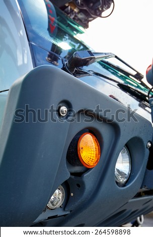 Airport fire engine - stock photo