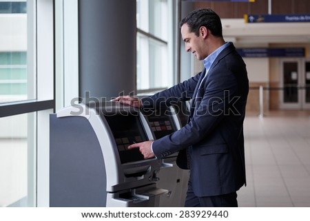 Airport flight check in - stock photo
