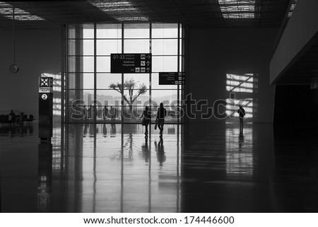 Airport in Turkey - stock photo