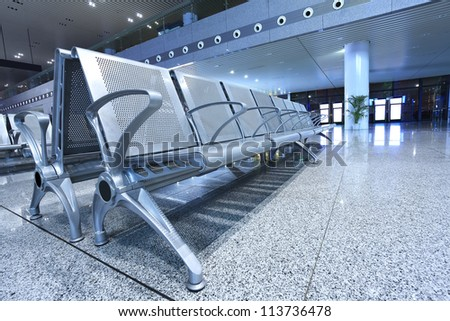 Airport internal seating area