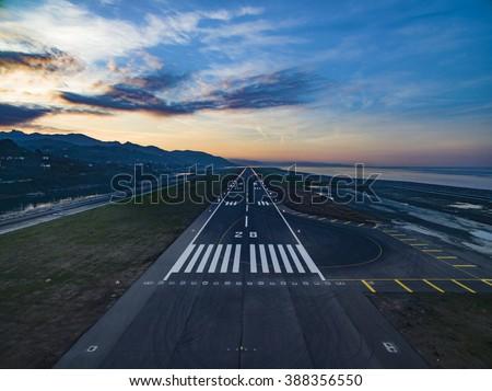 Airport Landing - stock photo