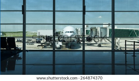 Airport life. - stock photo