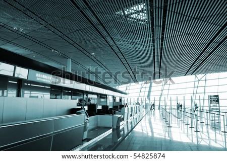 Airport lobby - stock photo