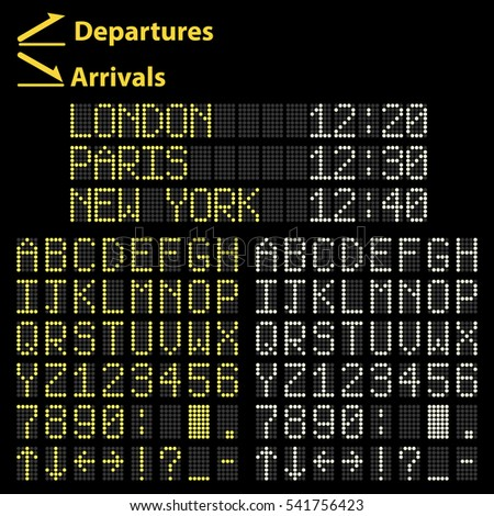 Airport mechanical Led display arrivals and departures board